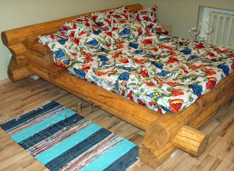 Кровать из брёвен своими руками фото 50